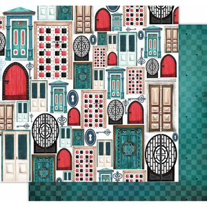 "Papel 12x12"" Wonderland de Kora Projects Doors Choice"