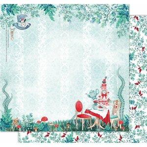 "Papel 12x12"" Wonderland de Kora Projects Tea Time"