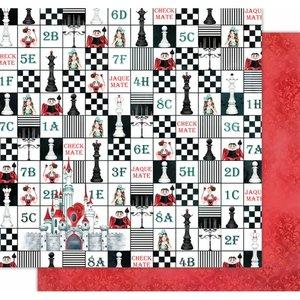 "Papel 12x12"" Wonderland de Kora Projects Chekmate"