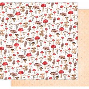 "Papel 12x12"" Wonderland de Kora Projects Mushrooms"