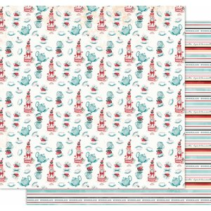 "Papel 12x12"" Wonderland de Kora Projects Tea Party"