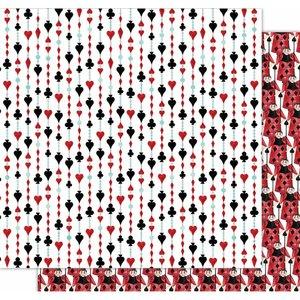 """Papel 12x12"""" Wonderland de Kora Projects Cards Suits"""