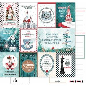 """Papel de tarjetas 12x12"""" Wonderland de Kora Projects"""