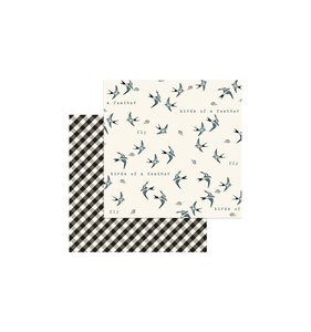 Papel My Mind's Eye Gingham Birdie