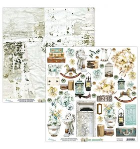 """Papel 12""""x12"""" Old Manor Elements"""