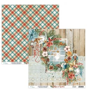 """Papel 12""""x12"""" Home For Christmas 01"""