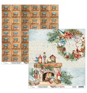 """Papel 12""""x12"""" Home For Christmas 03"""