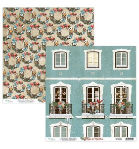 """Papel 12""""x12"""" Home For Christmas 04"""