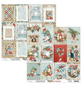 """Papel 12""""x12"""" Home For Christmas 06"""