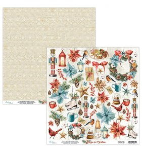 """Papel 12""""x12"""" Home For Christmas Elements"""