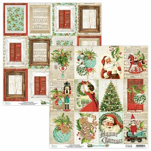 "Papel 12x12"" Mintay Col. Merry & Bright 06"