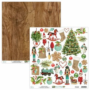 "Papel 12x12"" Mintay Col. Merry & Bright Elements"