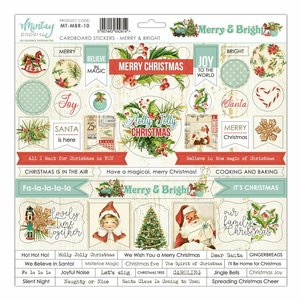 "Pegatinas de chipboard 12x12"" Mintay Col. Merry & Bright"