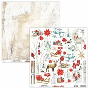 "Papel 12x12"" Mintay Col. Winterland Elements"