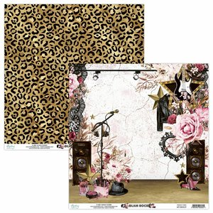 "Papel 12x12"" Mintay Col. Glam Rock 01"