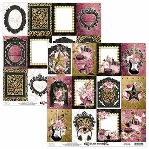 "Papel 12x12"" Mintay Col. Glam Rock 06"