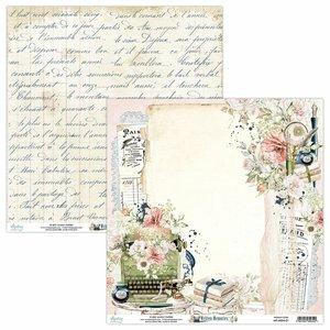 "Papel 12x12"" Mintay Col. Written Memories 01"