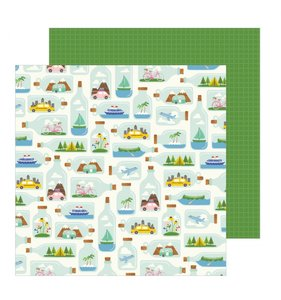 "Papel 12""x12"" Chasing Adventures Tiny Travels"