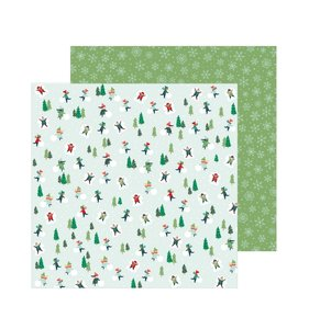 "Papel 12""x12"" Merry Little Christmas Snow Day"