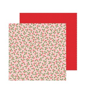 "Papel 12""x12"" Merry Little Christmas Jolly Holly"