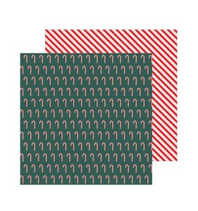 "Papel 12""x12"" Merry Little Christmas Candy Cane"