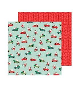 "Papel 12""x12"" Merry Little Christmas Santa On The Go"