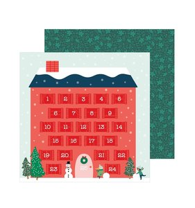 "Papel 12""x12"" Merry Little Christmas Counting Down"