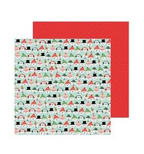 "Papel 12""x12"" Merry Little Christmas Snow Friends"