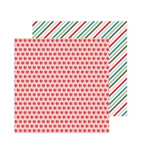 "Papel 12""x12"" Merry Little Christmas Peppermint Candies"