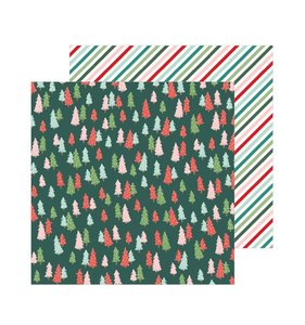 "Papel 12""x12"" Merry Little Christmas Oh Christmas Tree"