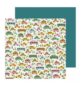 """Papel 12""""x12"""" This is Family Road Trip"""