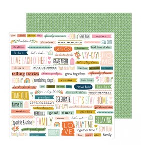 """Papel 12""""x12"""" This is Family Bits & Pieces"""