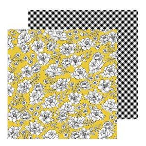 "Papel 12""x12"" Jen Hadfield Hey Hello Yellow Roses"