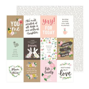 """Papel 12""""x12"""" Lovely Moments Lovely Quotes"""