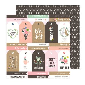 """Papel 12""""x12"""" Lovely Moments Lovely Tags"""