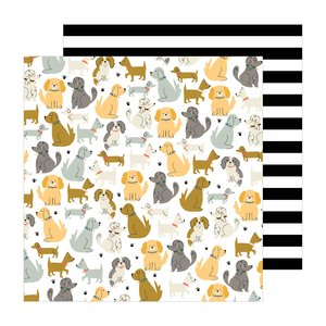"Papel 12x12"" Puppy Park of The Avenue by Jen Hadfield"