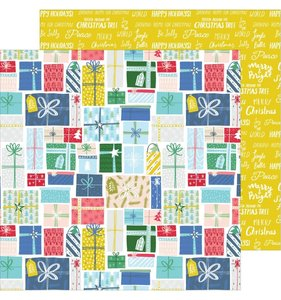 """Papel 12""""x12"""" Home for the holidays Holiday Gifts"""