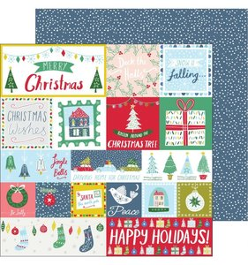"""Papel 12""""x12"""" Home for the holidays Happy holidays"""