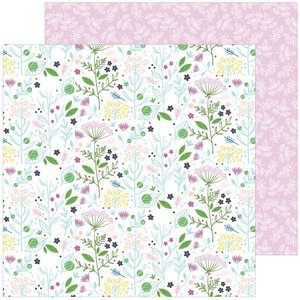 "Papel 12""x12"" Pinkfresh Noteworthy Enchanted Blooms"