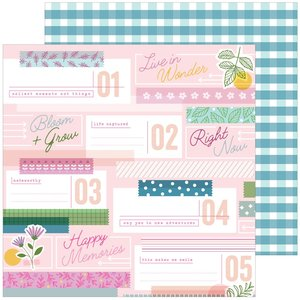 """Papel 12""""x12"""" Pinkfresh Noteworthy Lovely Moments"""