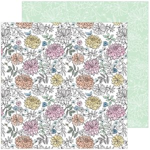 """Papel 12""""x12"""" Pinkfresh My favorite story Bloom and grow"""