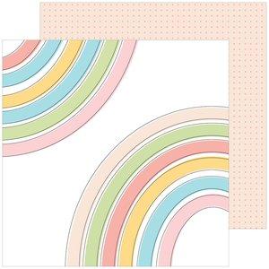 "Papel 12""x12"" Pinkfresh My favorite story Joyful Heart"