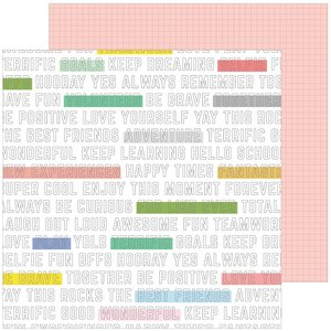 "Papel 12""x12"" Pinkfresh Supercool Highlight"