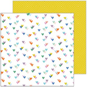 "Papel 12x12"" Kind Hearts col. Let's Stay Home"