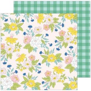 "Papel 12x12"" Happy Blooms de PinkFresh Blossom"