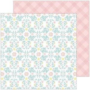 "Papel 12x12"" Happy Blooms de PinkFresh Cottage"