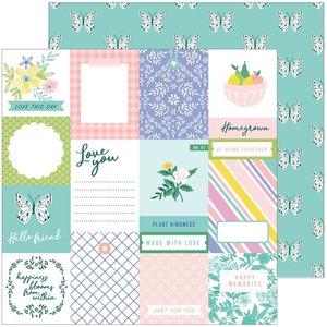 """Papel 12x12"""" Happy Blooms de PinkFresh Homegrown"""