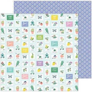 """Papel 12x12"""" Happy Blooms de PinkFresh Garden"""