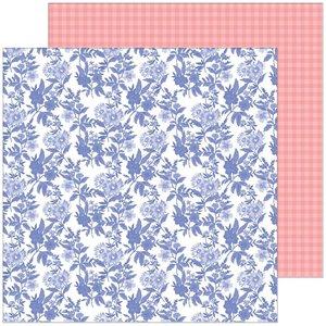 """Papel 12x12"""" Happy Blooms de PinkFresh Daydream"""