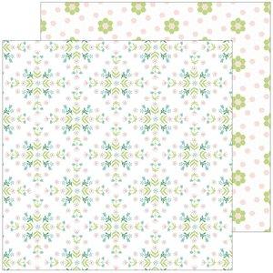 """Papel 12x12"""" Happy Blooms de PinkFresh Together"""